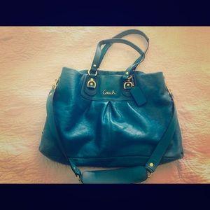 Teal Authentic Coach Handbag